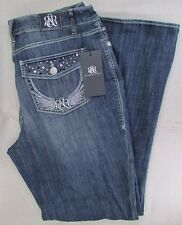 ROCK & REPUBLIC Women's Plus Kasandra Embellished Bootcut Jeans 20WS NEW