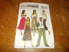 Butterick Pattern B5330 Ms EZ Pull-On A-Line Skirts w/Options & Pull-On Pants