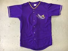 Authentic Louisville Bats Purple MiLB Throwback Minor League Baseball Jersey