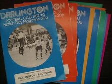 DARLINGTON - HOME - DIVISION 4 - League 1982-83 select programs required