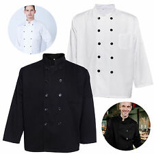 Men /Women Double Breasted Long Sleeve Chef Jacket Coat Unisex Uniform