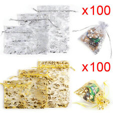 Rose Flower Wedding Party Favour Decor XMAS Organza Gift Bag Jewellery Pouches