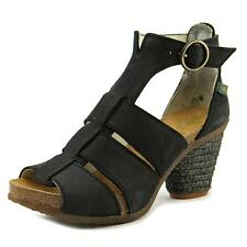 El Naturalista N793 Women  Open Toe Leather Black Sandals