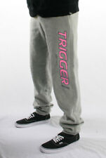 Tracksuit Pant Trigger Cuffed Mens Grey Marle Pink