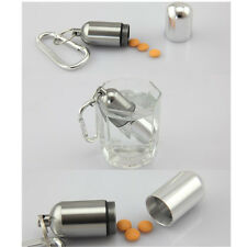 Container Bottle Holder Waterproof Aluminum Mini Medicine Keychain Pill Box