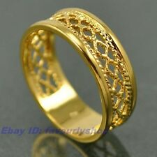 6,7,8,9,10# ELEGANT WOVEN BAND 18K YELLOW GOLD PLATED RING SOLID FILL GEP 7820r