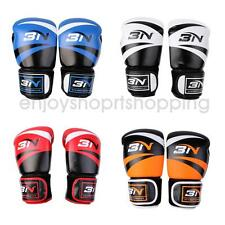 PU Leather Boxing Gloves Training Muay Thai Fight Punching Bag Sparring MMA UFC