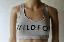 WILDFOX COUTURE *NEW*  Grey 'WILDFOX' Print crop top  multi size RRP $99!
