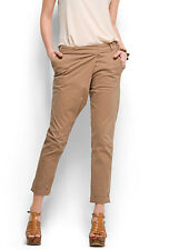 LADIES STONE/BIEGE CROP TROUSER WITH CLASP CLOSURE FROM MANGO SIZE 10  BNWT
