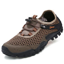 Mens Fashion Breathable Hiking Shoes Mesh Non Slip Athletic Casual Outdoor Shoes