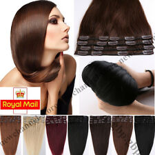 8PCS Clip in Hair Extensions 100% Real Remy Human Hair Extension 90-110g UK C387