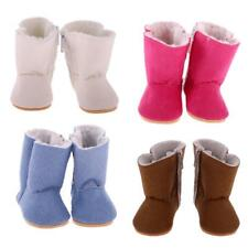 Zip Snow Boots Shoes for 18 Inch American Girl Our Generation Doll My Life Doll