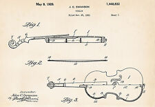 1928 Swanson Violin Drawing Patent Violinist Gifts Art Print Posters Present