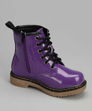 Coco Jumbo Purple Patent Jane Boots Big Girls Size 4.5-7 Y