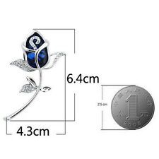 Gift 1Pcs Clothing Brooch Alloy Rhinestone jewelry Crystal Brooches Rose Flower