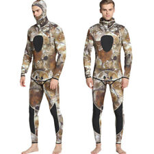 New Men 3mm Neoprene Camouflage Two-piece Suit Wetsuit for Diving Surfing