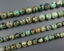 Natural African Turquoise Gemstone Beads Faceted Bead Round Stone Beads 8mm 10mm