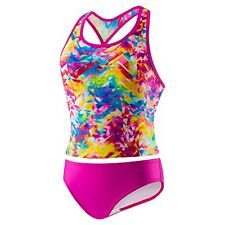 Speedo Tie Dye Splash Keyhole Tankini 2PC (7-16)