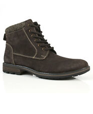 Solebay Sharrow Brown Suede Leather Lace Up Comfort Smart Casual Ankle Boot