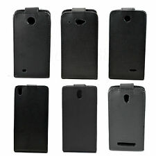 Black Flip Magnetic Leather Pouch Case Cover For HTC Desire 300 310 500 601 610
