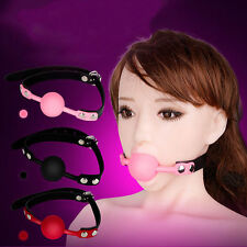 New Soft Silicone Mouth Ball Gag Mouth Stuffed Adult Game Toy Bongdage Restraint