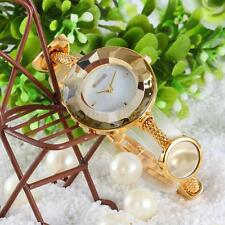 WEIQIN Women Luxury Gold Bracelet Watch Waterproof Quartz Stainless Steel M2C8