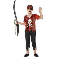 Kids Boys Jolly Roger Pirate Buccaneer Childs Fancy Dress Costume Outfit 44401