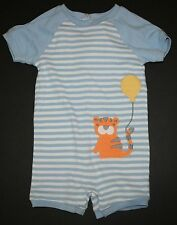 New Gymboree Outlet Blue Tiger Summer Outfit Romper NWT NB 0 3 6 12 18 Months