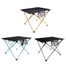 Folding Roll Up Outdoor Camping Table Picnic Beach Fishing BBQ Desk +Storage Bag