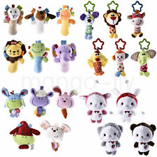 Baby Infant Kids Soft Rattle Animal Handbells Bed Plush Doll Toy Hang Bedding