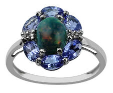 Tanzanite 1.49 Ct With Authentic Blue Ethiopian Gemstone Ring 925 Silver Jewelry