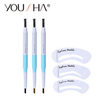 Fashion Makeup Automatic Eyebrow Pencil with Brows Brush Waterproof 3 Colors