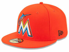 New Era Miami Marlins 2017 ROAD 59Fifty Fitted Hat (Orange) MLB Cap