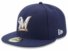 New Era Milwaukee Brewers 2017 GAME 59Fifty Fitted Hat (Navy) MLB Cap