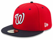 New Era Washington Nationals 2017 ALT 2 59Fifty Fitted Hat (Red/Navy) MLB Cap