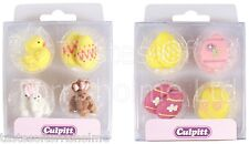 12 Culpitt Edible Easter Egg Or Bunny Cupcake, Cake Decorations Sugar Toppers