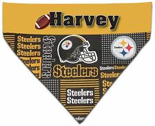 Over the Collar Dog Personalized NFL Pittsburgh Steelers Bandana Bandanna