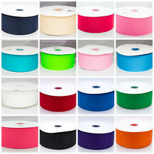 "Solid Grosgrain Ribbon 1.5 "" 1. inch 38mm Black Red Pink White Green Blue Cream"