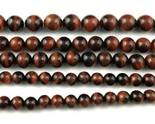 Natural Tiger Eye Beads Red Gemstone Smooth Round Spacer Bead 6mm 8mm 10mm 12mm