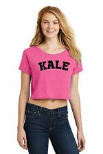 Kale Ladies Crop Top Funny University Food Vegan Vegetarian Health Tee Z7