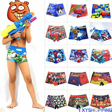 Boys Cartoon Swimwear Swimsuit Swim Trunks Children Kids Swimming Beach Shorts