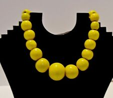 "16"" Chunky Wood Beaded Fashion Necklace And Dangle Earring Set  Colors J2364"