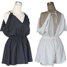 Jumpsuits Short Women V-Neck Sexy Summer New Rompers Fashion Strap Beach