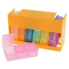 14 Slots 7 Days Travel Pill Tablet Storage Box Medicine Organizer Container Case