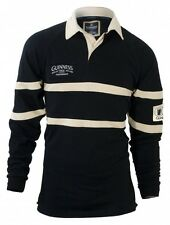 Guinness Traditional Rugby Jersey - Black & Cream