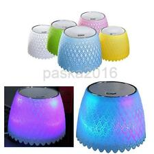 USB Powered Speakers RGB LED Light Heavy Bass for PC/Computer Home Outdoors