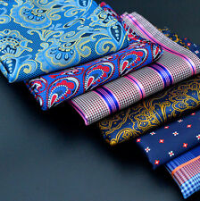 Mens Silk Satin Pocket Square Hankie Handkerchief Various Colours Free Shipping