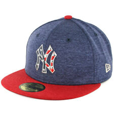 """New Era 59Fifty New York Yankees """"4th of July"""" Fitted Hat (LTN/SCR) Mens MLB Cap"""