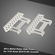 2Pcs Metal Outer Side Pedal Plate for 1/10 Axial SCX10 RC Rock Crawler Part N5C4