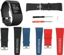 Silicone Watch Band Wristband Strap Bracelet w/Tool Kit for Fitbit Surge L/S MEH